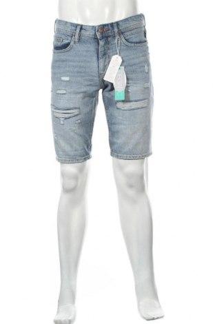 Мъжки къс панталон Edc By Esprit, Размер M, Цвят Син, Памук, Цена 19,44лв.