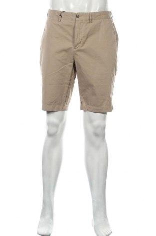 Мъжки къс панталон Faconnable, Размер L, Цвят Бежов, Памук, Цена 109,62лв.
