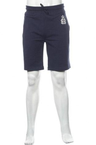 Мъжки къс панталон Hackett, Размер L, Цвят Син, 95% памук, 5% еластан, Цена 34,71лв.