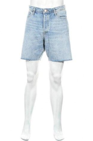 Мъжки къс панталон Jack & Jones, Размер XL, Цвят Син, 78% памук, 20% памук, 2% еластан, Цена 51,75лв.