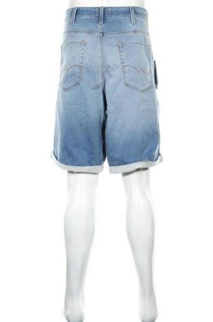 Мъжки къс панталон Jack & Jones, Размер 3XL, Цвят Син, 77% памук, 22% полиестер, 1% еластан, Цена 27,65лв.