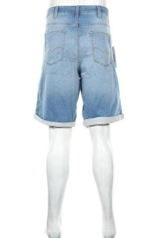 Мъжки къс панталон Jack & Jones, Размер 3XL, Цвят Син, 77% памук, 22% полиестер, 1% еластан, Цена 20,36лв.