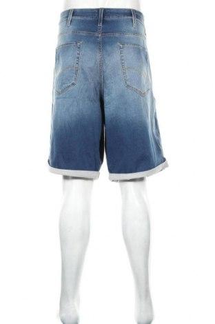 Мъжки къс панталон Jack & Jones, Размер 3XL, Цвят Син, 77% памук, 22% полиестер, 1% еластан, Цена 26,86лв.