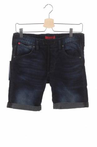 Мъжки къс панталон Jack & Jones, Размер XS, Цвят Син, 80% памук, 19% полиестер, 1% еластан, Цена 19,75лв.