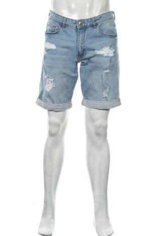 Pánské kraťasy Mr. F, Velikost M, Barva Modrá, 99% bavlna, 1% elastan, Cena  313,00Kč