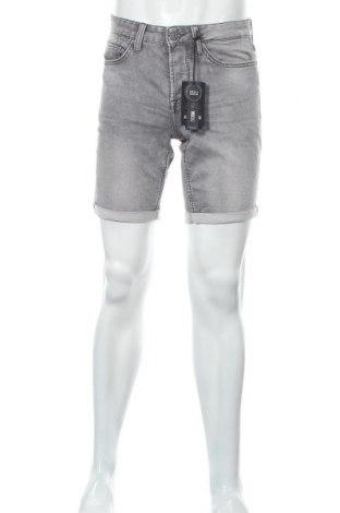 Мъжки къс панталон Only & Sons, Размер S, Цвят Сив, 75% памук, 24% полиестер, 1% еластан, Цена 17,54лв.