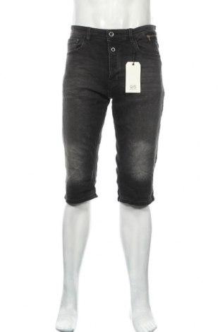 Мъжки къс панталон Q/S by S.Oliver, Размер XL, Цвят Сив, 99% памук, 1% еластан, Цена 39,60лв.