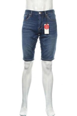 Pantaloni scurți de bărbați S.Oliver, Mărime S, Culoare Albastru, 89% bumbac, 10% poliester, 1% elastan, Preț 129,94 Lei