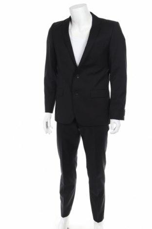 Costum de bărbați Hugo Boss, Mărime M, Culoare Negru, Lână, Preț 475,46 Lei