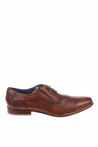 Мъжки обувки Bugatti, Размер 48, Цвят Кафяв, Естествена кожа, Цена 57,25лв.