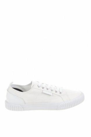 Мъжки обувки Lyle & Scott, Размер 42, Цвят Бял, Текстил, естествена кожа, Цена 45,63лв.