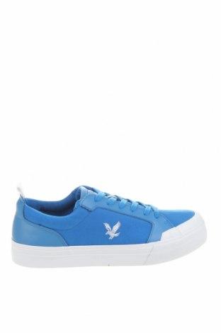 Ανδρικά παπούτσια Lyle & Scott, Μέγεθος 42, Χρώμα Μπλέ, Κλωστοϋφαντουργικά προϊόντα, γνήσιο δέρμα, Τιμή 28,75€