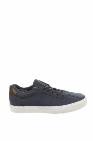 Ανδρικά παπούτσια Mo, Μέγεθος 39, Χρώμα Μπλέ, Δερματίνη, Τιμή 10,67€