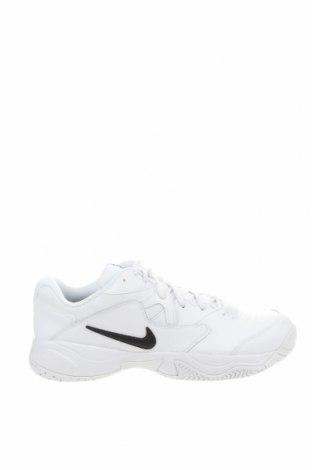 Мъжки обувки Nike, Размер 49, Цвят Бял, Естествена кожа, текстил, Цена 52,92лв.