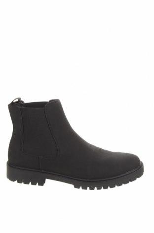Ανδρικά παπούτσια Pier One, Μέγεθος 48, Χρώμα Μαύρο, Δερματίνη, Τιμή 32,58€