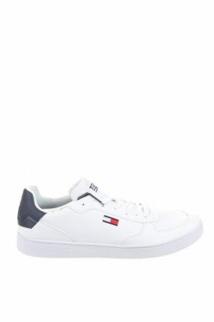 Мъжки обувки Tommy Hilfiger, Размер 45, Цвят Бял, Естествена кожа, Цена 80,84лв.