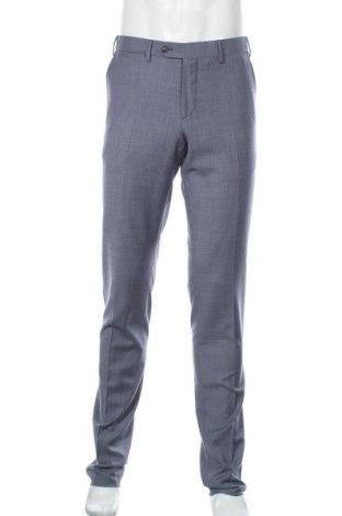 Pánské kalhoty  Faconnable, Velikost M, Barva Modrá, 59% vlna, 33% bavlna, 8% len, Cena  2384,00Kč