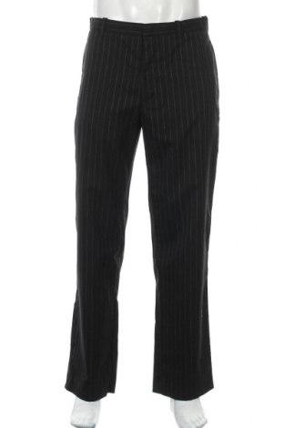 Pantaloni de bărbați Gap, Mărime M, Culoare Negru, 55% lână, 42% poliester, 3% elastan, Preț 22,38 Lei