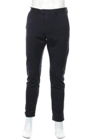 Мъжки панталон Jack & Jones, Размер M, Цвят Син, 68% полиестер, 29% вискоза, 3% еластан, Цена 63,00лв.