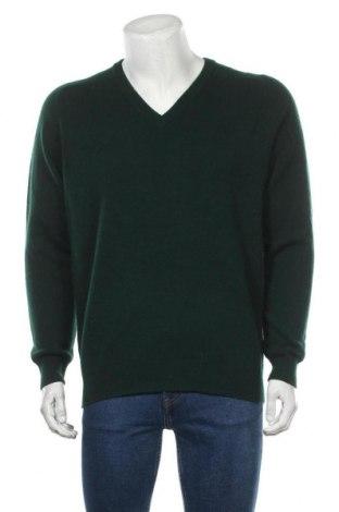Мъжки пуловер Alan Paine, Размер L, Цвят Зелен, Цена 20,58лв.