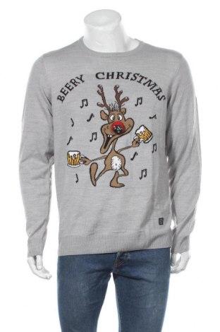 Мъжки пуловер Blend, Размер XL, Цвят Сив, Акрил, Цена 47,04лв.