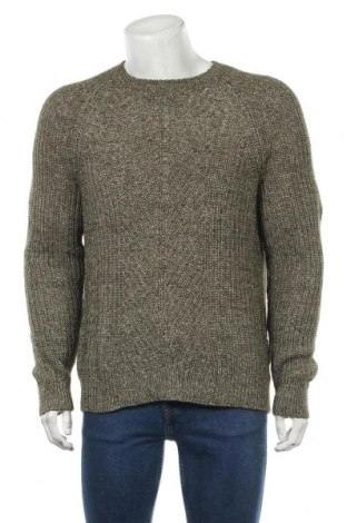 Мъжки пуловер Express, Размер XL, Цвят Зелен, 68% памук, 25% акрил, 7% вълна, Цена 17,64лв.