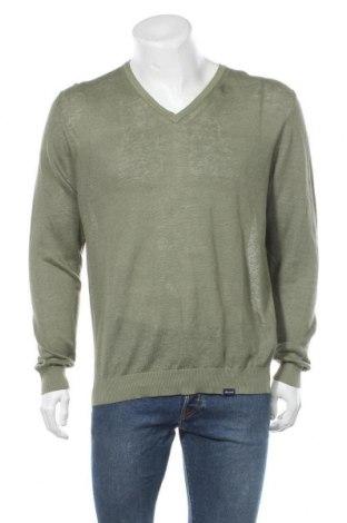 Ανδρικό πουλόβερ Faconnable, Μέγεθος L, Χρώμα Πράσινο, 75% λινό, 25% βαμβάκι, Τιμή 21,25€