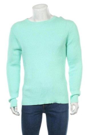 Ανδρικό πουλόβερ Gant, Μέγεθος L, Χρώμα Πράσινο, Βαμβάκι, Τιμή 27,23€