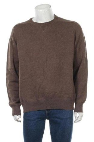 Мъжки пуловер Kirkland, Размер XL, Цвят Кафяв, 52% вълна, 48% памук, Цена 22,84лв.