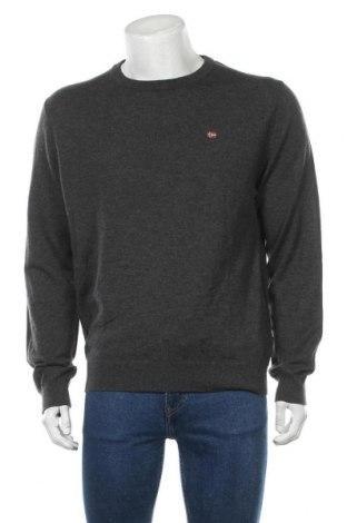 Ανδρικό πουλόβερ Napapijri, Μέγεθος XL, Χρώμα Γκρί, Μερινό, Τιμή 80,80€