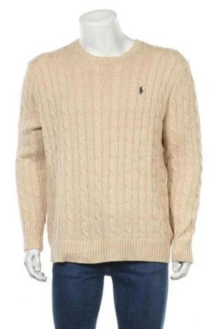 Pánský svetr  Polo By Ralph Lauren, Velikost L, Barva Béžová, Bavlna, Cena  1543,00Kč
