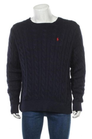 Pánský svetr  Polo By Ralph Lauren, Velikost L, Barva Modrá, Bavlna, Cena  1634,00Kč