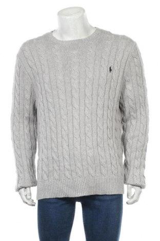 Pánský svetr  Polo By Ralph Lauren, Velikost XL, Barva Šedá, Bavlna, Cena  1634,00Kč