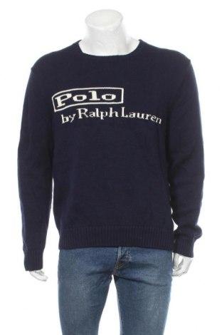 Pánský svetr  Polo By Ralph Lauren, Velikost L, Barva Modrá, Bavlna, Cena  1543,00Kč