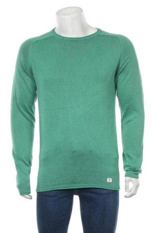 Pulover de bărbați Tom Tailor, Mărime M, Culoare Verde, Bumbac, Preț 73,75 Lei
