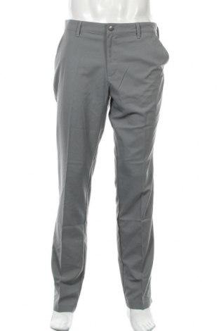 Pantaloni trening de bărbați Adidas, Mărime L, Culoare Gri, Poliester, Preț 161,35 Lei