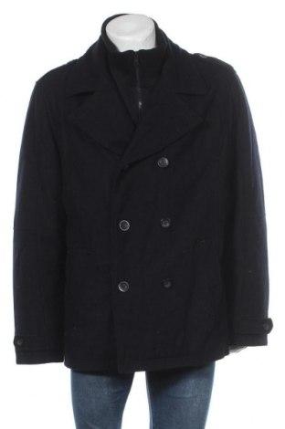 Palton de bărbați Angelo Litrico, Mărime XXL, Culoare Albastru, 53% lână, 41% poliester, 6% alte țesuturi, Preț 83,56 Lei