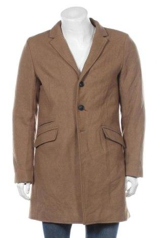 Pánský kabát  Only & Sons, Velikost M, Barva Béžová, 50% vlna, 40% polyester, 10% jiné tkaniva , Cena  455,00Kč