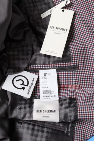 Мъжко сако Ben Sherman, Размер S, Цвят Многоцветен, Вълна, Цена 87,15лв.