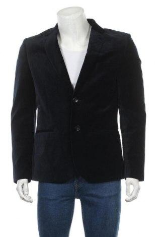 Мъжко сако H&M, Размер L, Цвят Син, 80% памук, 20% вискоза, Цена 13,86лв.