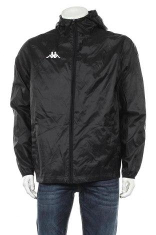 Мъжко спортно яке Kappa, Размер L, Цвят Черен, Полиамид, Цена 33,92лв.