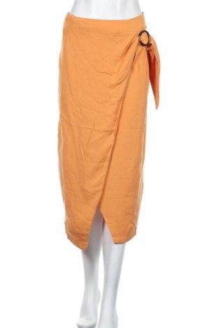 Φούστα Oysho, Μέγεθος M, Χρώμα Πορτοκαλί, 100% lyocell, Τιμή 13,87€