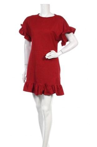 Rochie H&M, Mărime L, Culoare Roșu, 86% bumbac, 12% poliester, 2% elastan, Preț 71,38 Lei