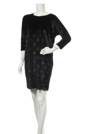 Рокля Vrs Woman, Размер S, Цвят Черен, 92% полиестер, 8% еластан, Цена 7,61лв.