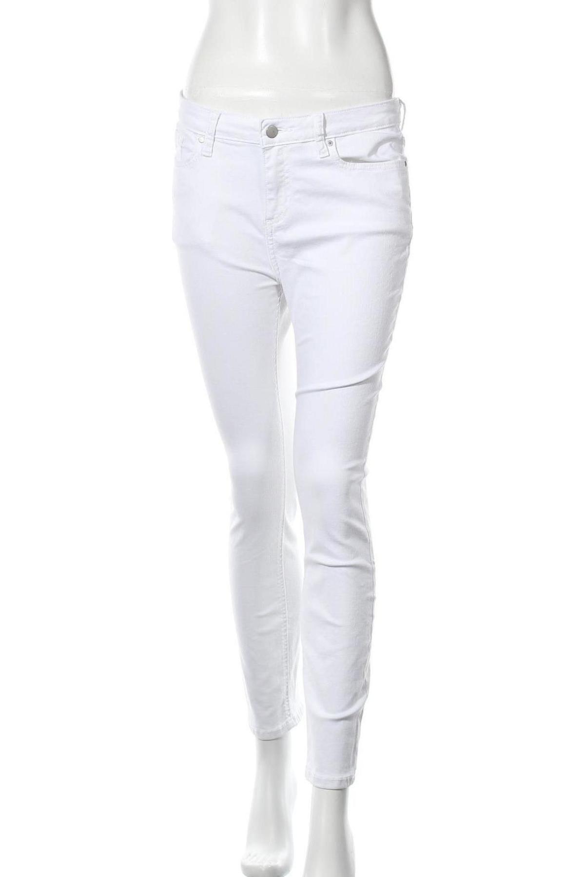 Дамски дънки, Размер M, Цвят Бял, Цена 11,82лв.