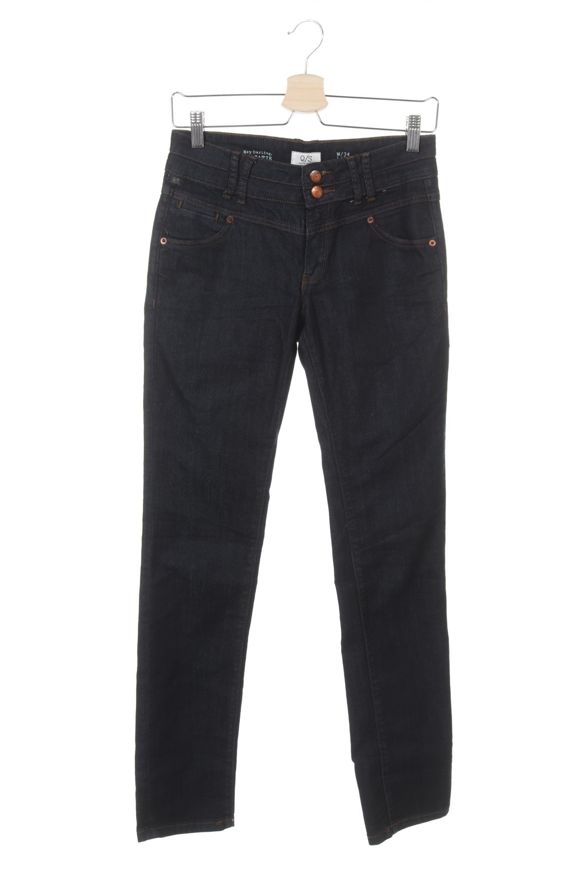 Дамски дънки Q/S by S.Oliver, Размер XS, Цвят Син, 65% памук, 35% полиестер, Цена 25,80лв.