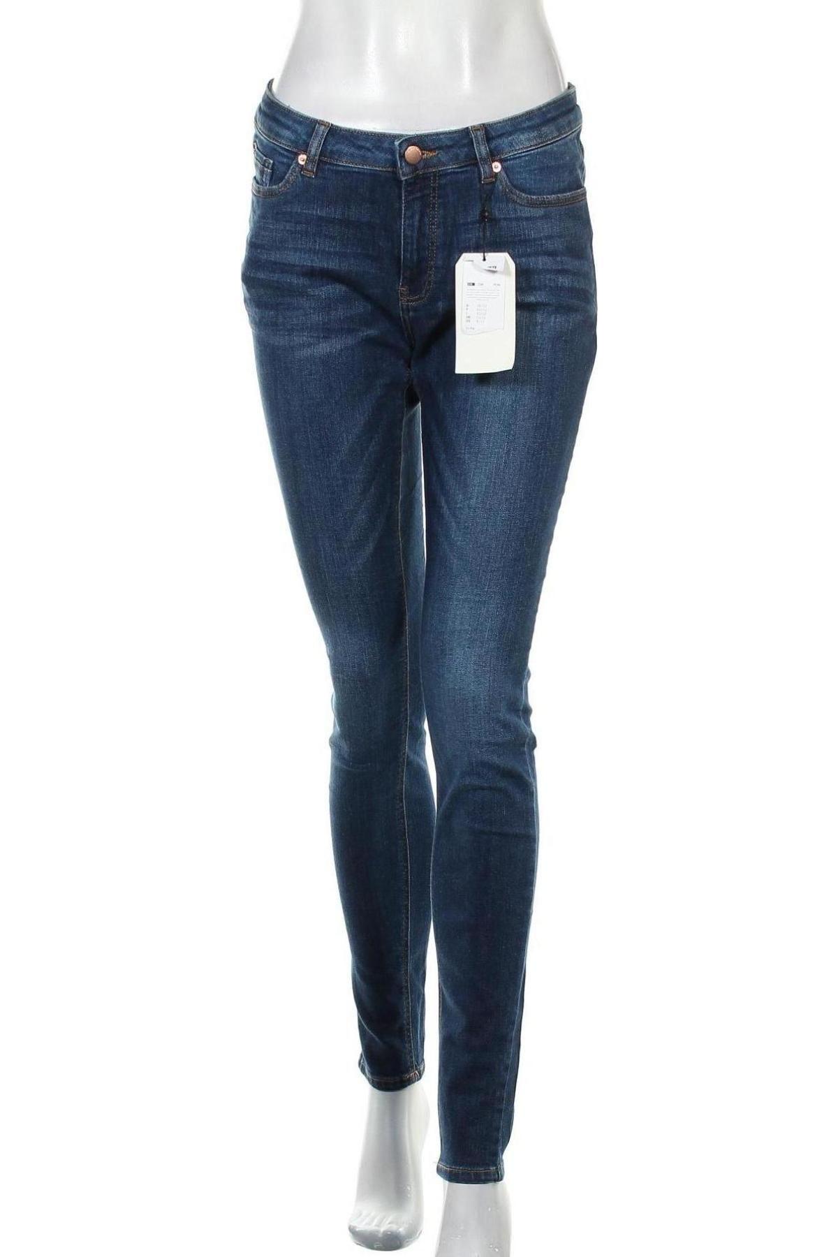 Дамски дънки Q/S by S.Oliver, Размер M, Цвят Син, 99% памук, 1% еластан, Цена 59,25лв.
