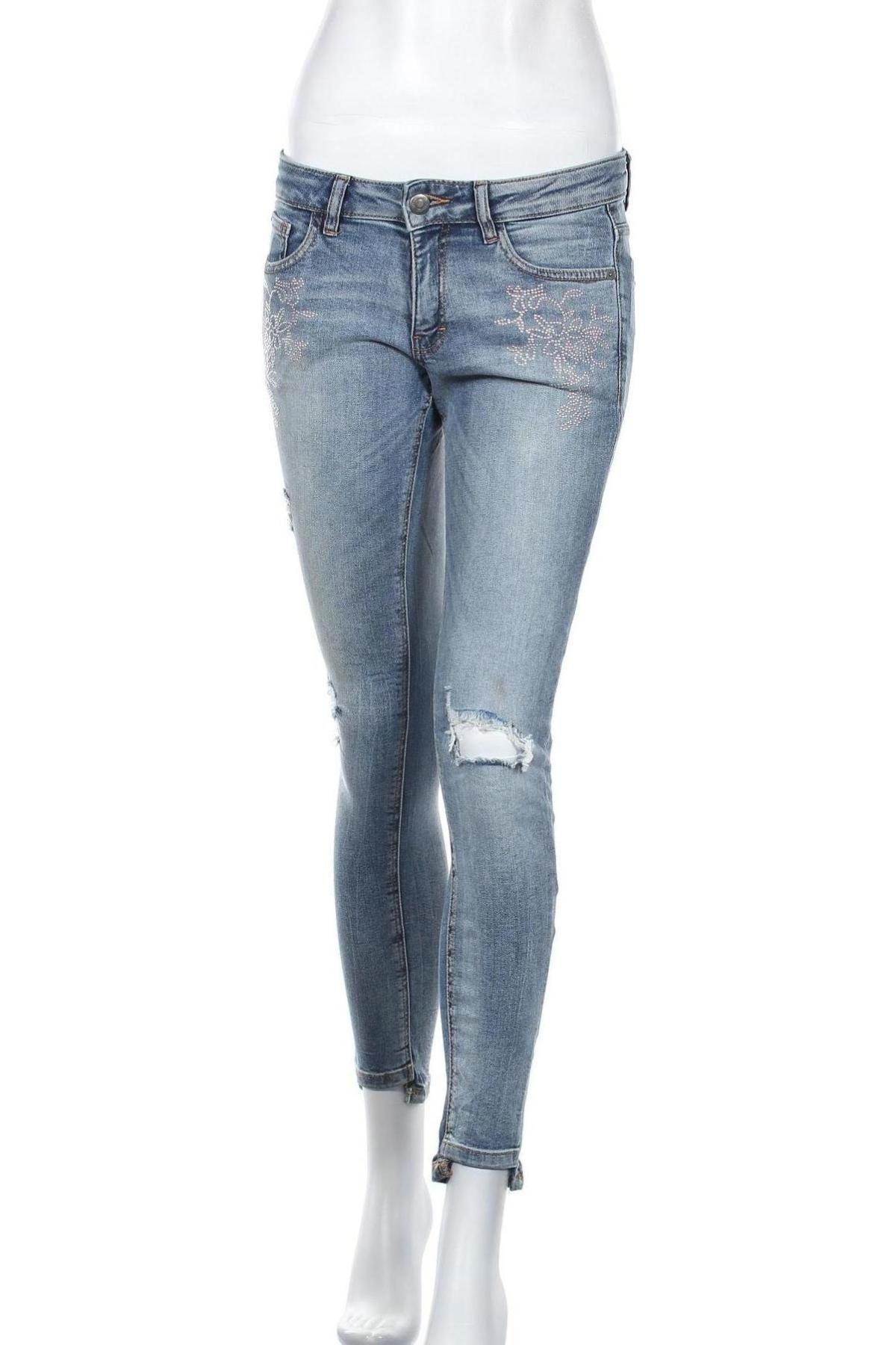 Дамски дънки Q/S by S.Oliver, Размер XS, Цвят Син, 99% памук, 1% еластан, Цена 24,42лв.