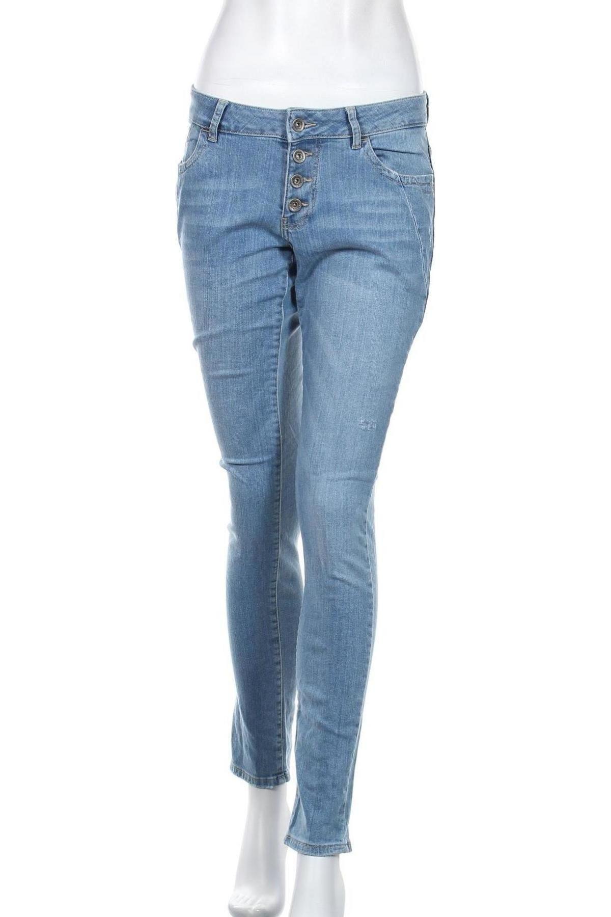 Дамски дънки S.Oliver, Размер S, Цвят Син, 98% памук, 2% еластан, Цена 11,48лв.