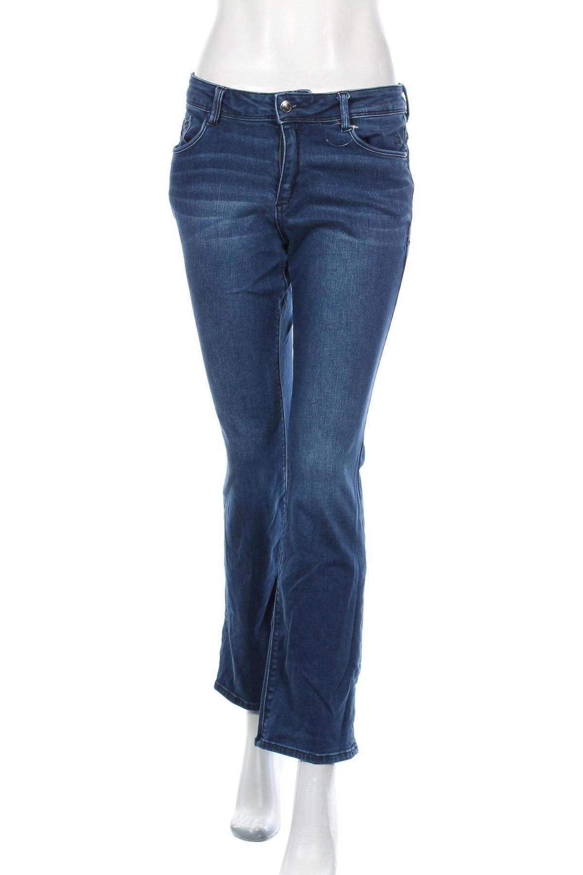 Дамски дънки S.Oliver, Размер S, Цвят Син, 91% памук, 7% полиестер, 2% еластан, Цена 28,20лв.